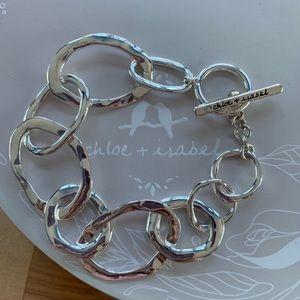 Chloe + Isabel Silver Organic Link Toggle Bracelet